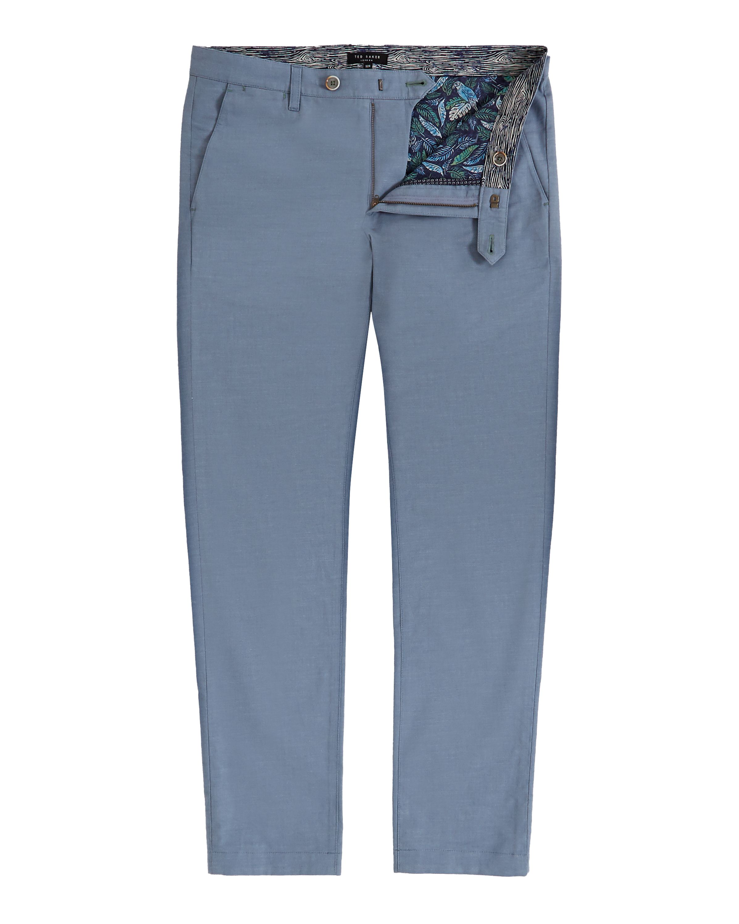 Mens Ted Baker Shiresy Slim Fit Trousers Blue