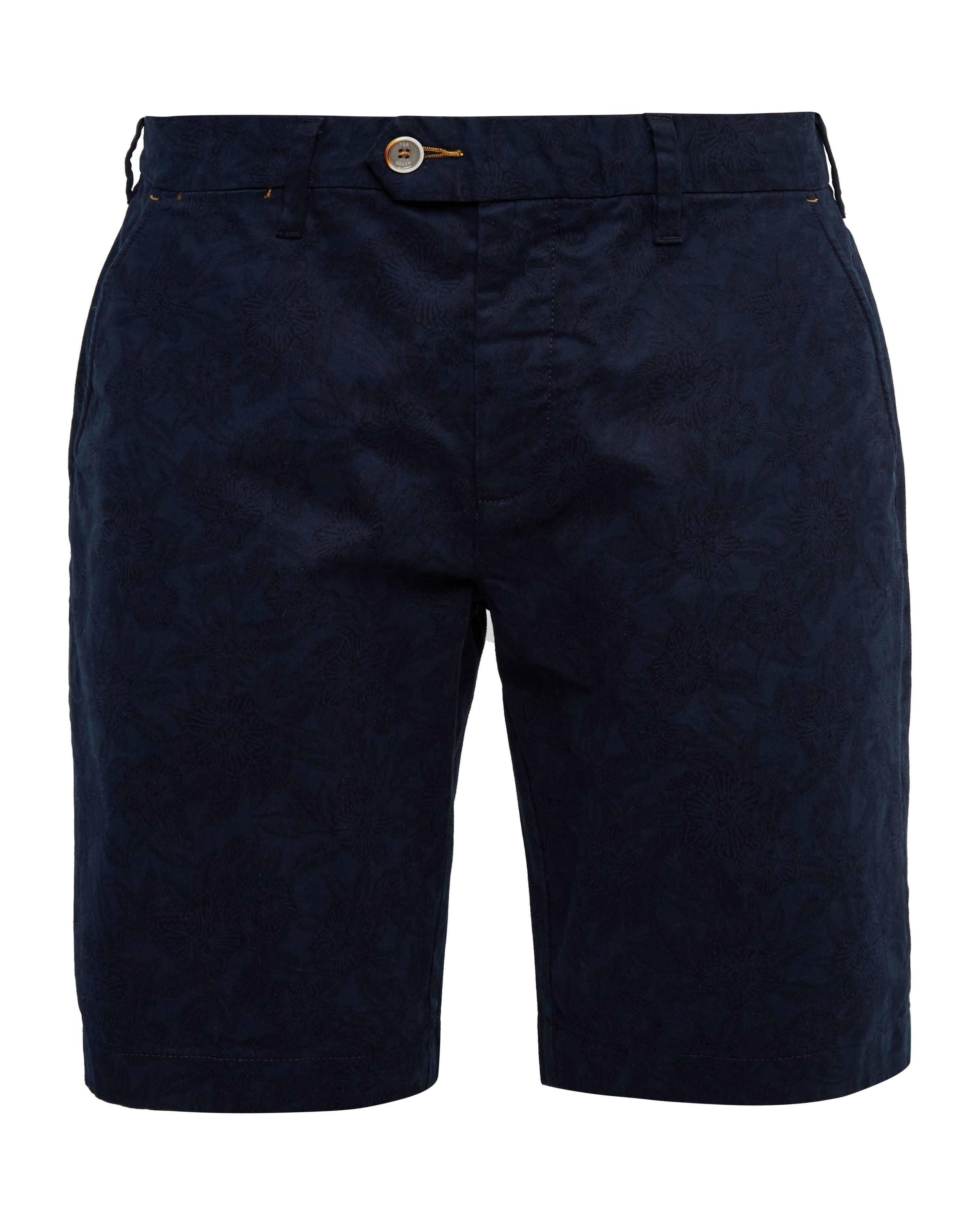 Mens Ted Baker Oldsho Floral Chino Oxford Shorts Navy