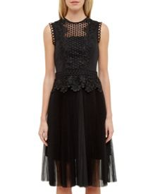 Ted Baker Feifei Lace panel pleated tutu dress
