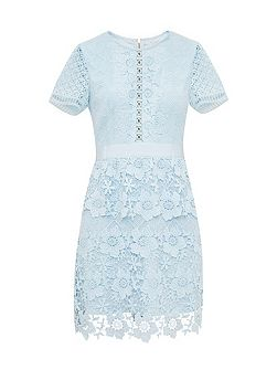 Dixa Layered Lace Skater Dress