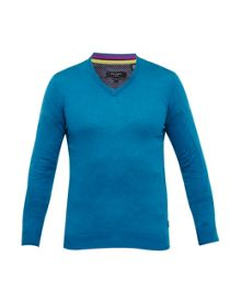 Ted Baker Alterna Silk-Blend V-Neck Jumper