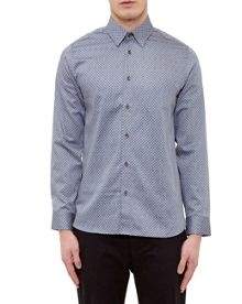 Ted Baker Teoface Geo Print Cotton Shirt