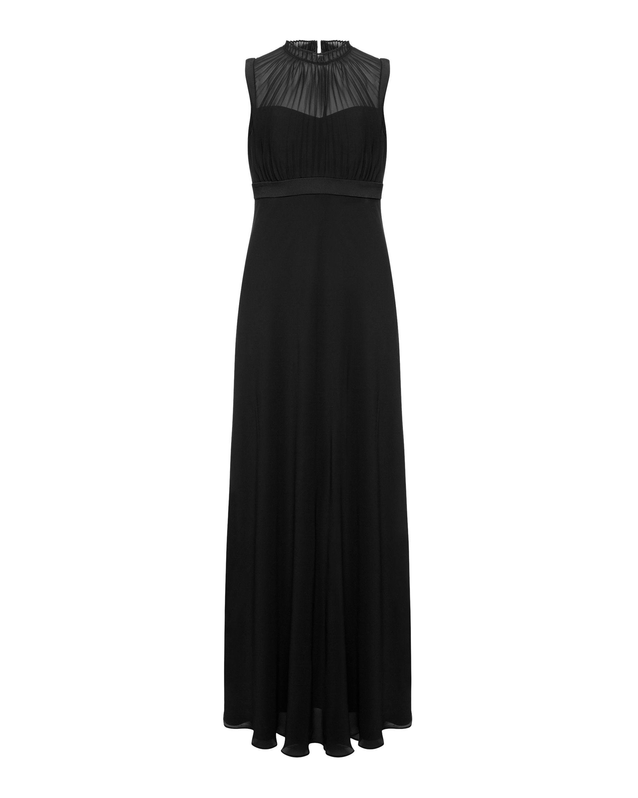Ted Baker Byanna Ruffle detail maxi dress Black
