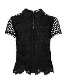 Ted Baker Beaux Lace Collared Cropped Top