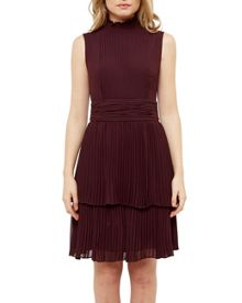 Ted Baker Bradia Pleated ruffle dress