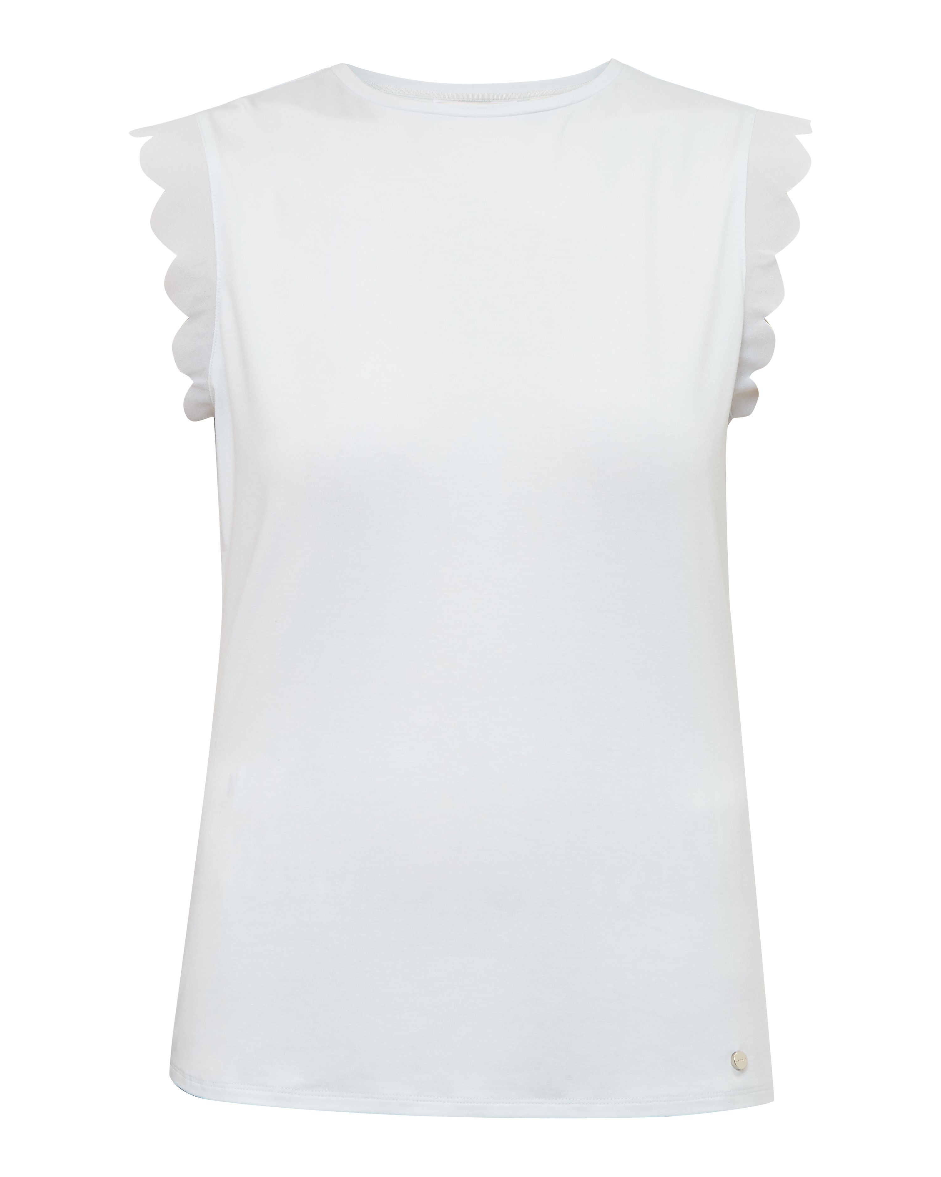 Ted Baker Elliah Scallop Detail Fitted TShirt Light Green