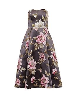 Bernica Floral jacquard full midi dress