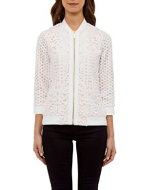 Ted Baker Hillan Geo Lace bomber jacket