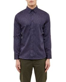 Ted Baker Jakee Geo print cotton shirt