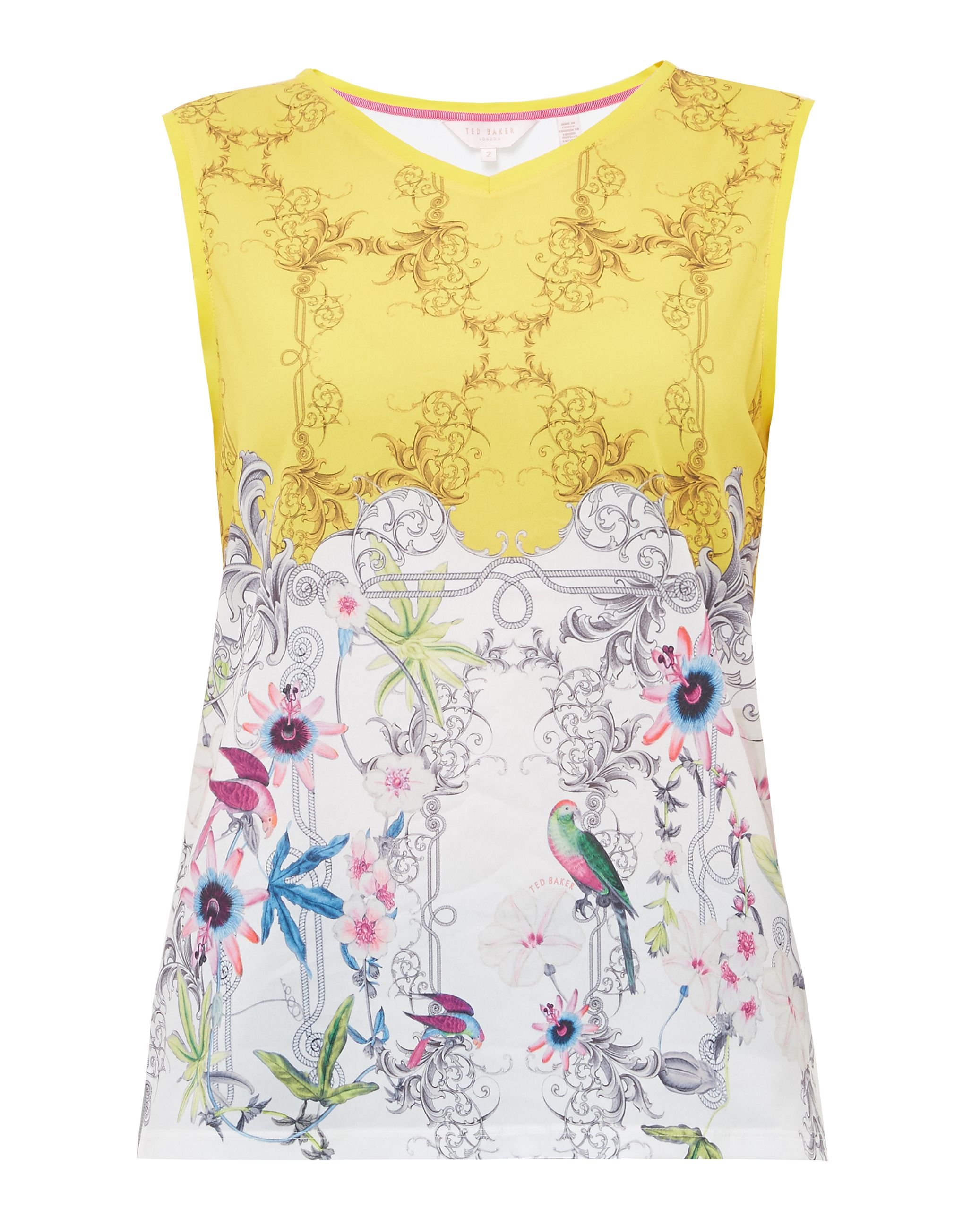 Ted Baker Tobolo Passion Flower vest top, Yellow