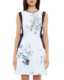 Ted Baker Sipnela Floral Side Bow A-Line Dress