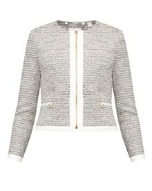 Ted Baker Preyaa Cropped sparkle boucle jacket