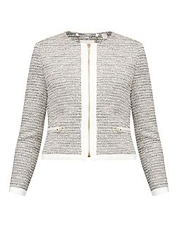 Preyaa Cropped sparkle boucle jacket