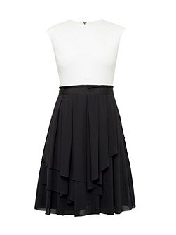 Saleito Ruffled two-tone dress