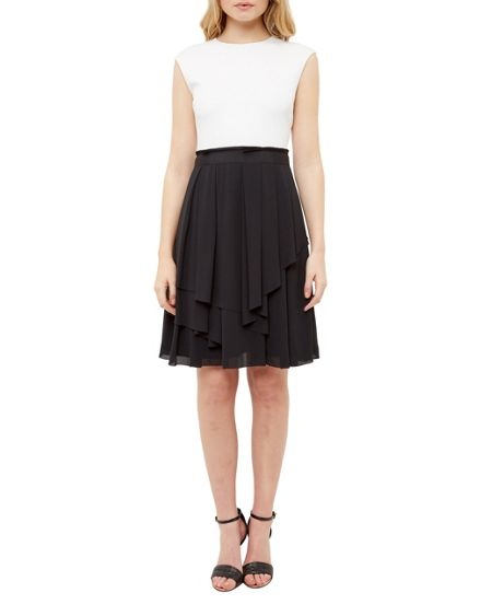 Ted Baker Saleito Ruffled two-tone dress