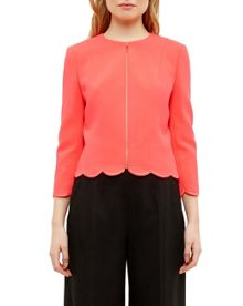 Ted Baker Heraly Scallop Trim Cropped Jacket