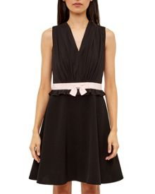 Ted Baker Vexi Ruffled bow waist skater dress