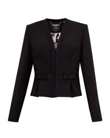 Ted Baker Zeeva Bow detail cropped suit jacket