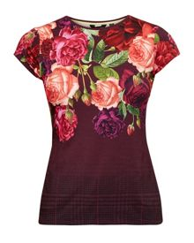 Ted Baker Melarni Juxtapose Rose Fitted T-Shirt
