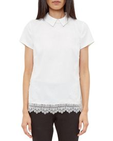 Ted Baker Marnee Collared lace detail top
