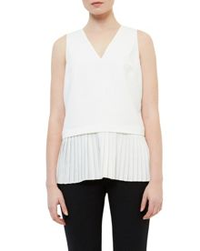 Ted Baker Oriya Pleated Dropped Hem Blouse