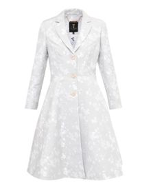 Ted Baker Fraully Oriental Jacquard Pleated Coat