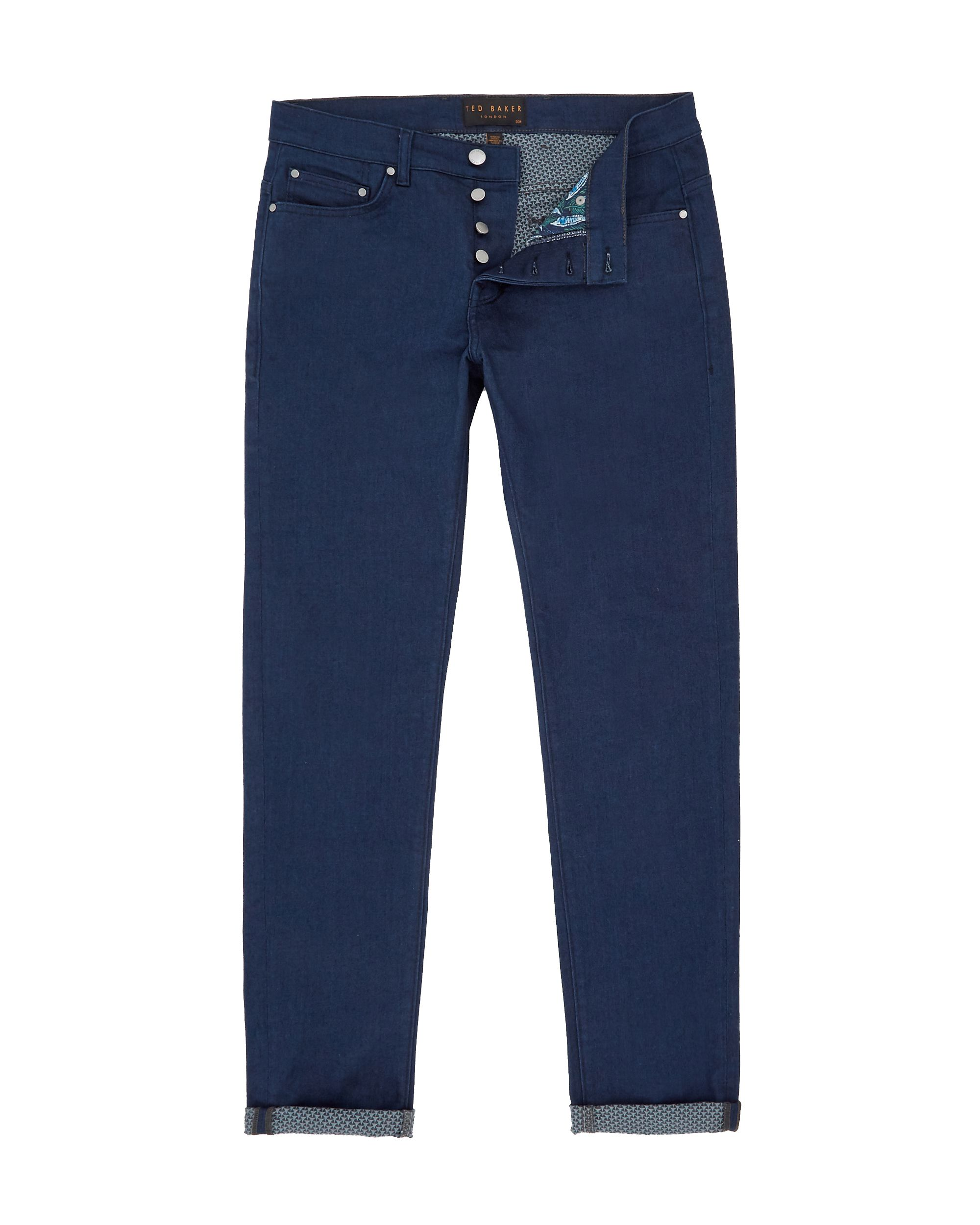 Mens Ted Baker Side Straight fit jeans Blue