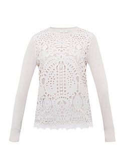 Anlise Geo lace front jumper