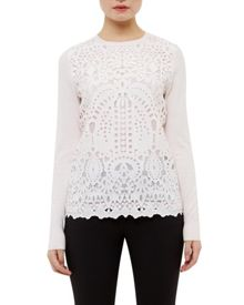 Ted Baker Anlise Geo lace front jumper
