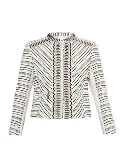 Orlli Embellished Bouclé Cropped Jacket