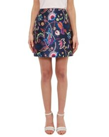 Ted Baker Soonah Folk Foliage A-Line Skirt