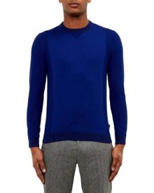 Ted Baker Brainb Textured Crew Neck Top