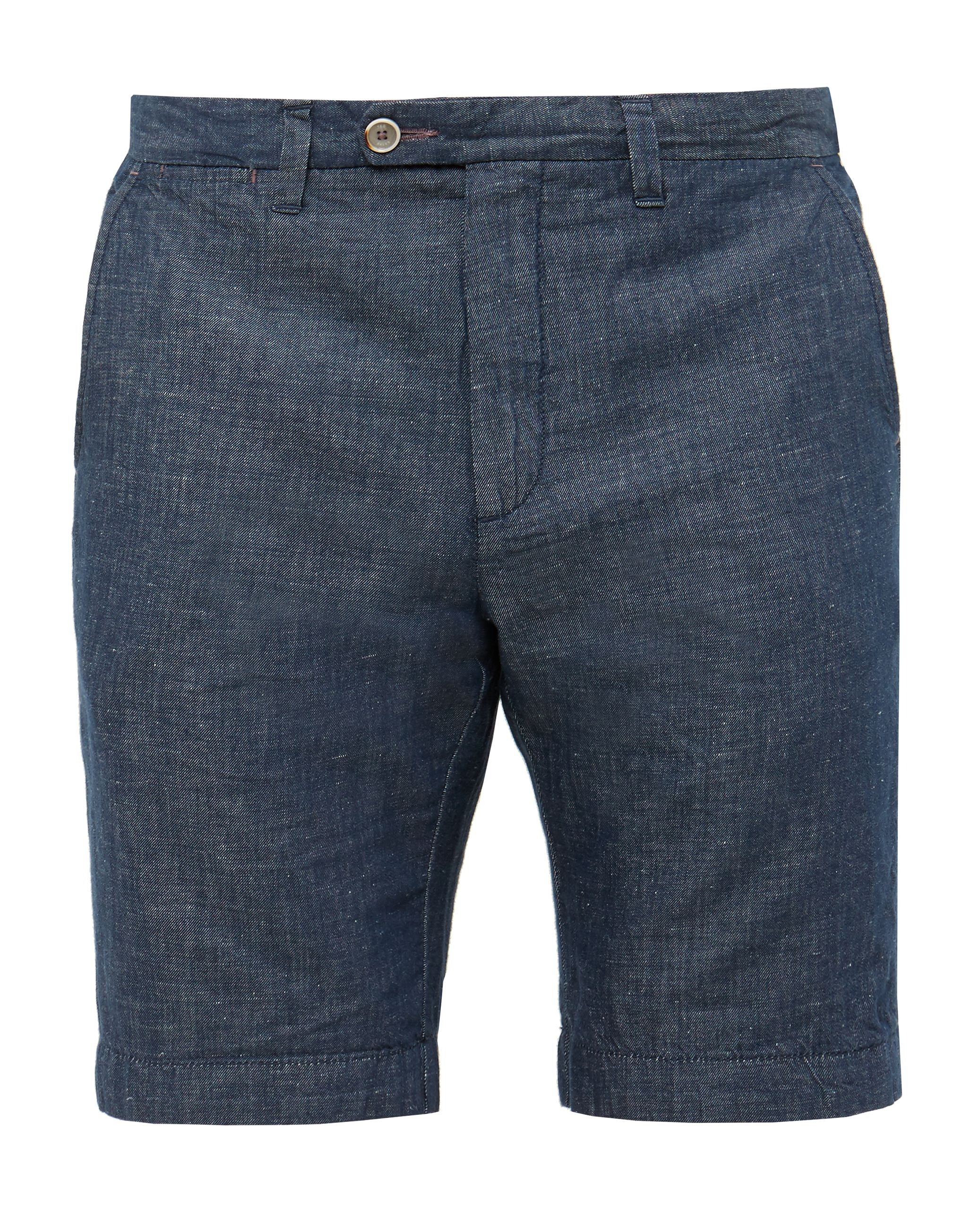 Mens Ted Baker Frisho Cotton And Linen Blend Shorts Navy