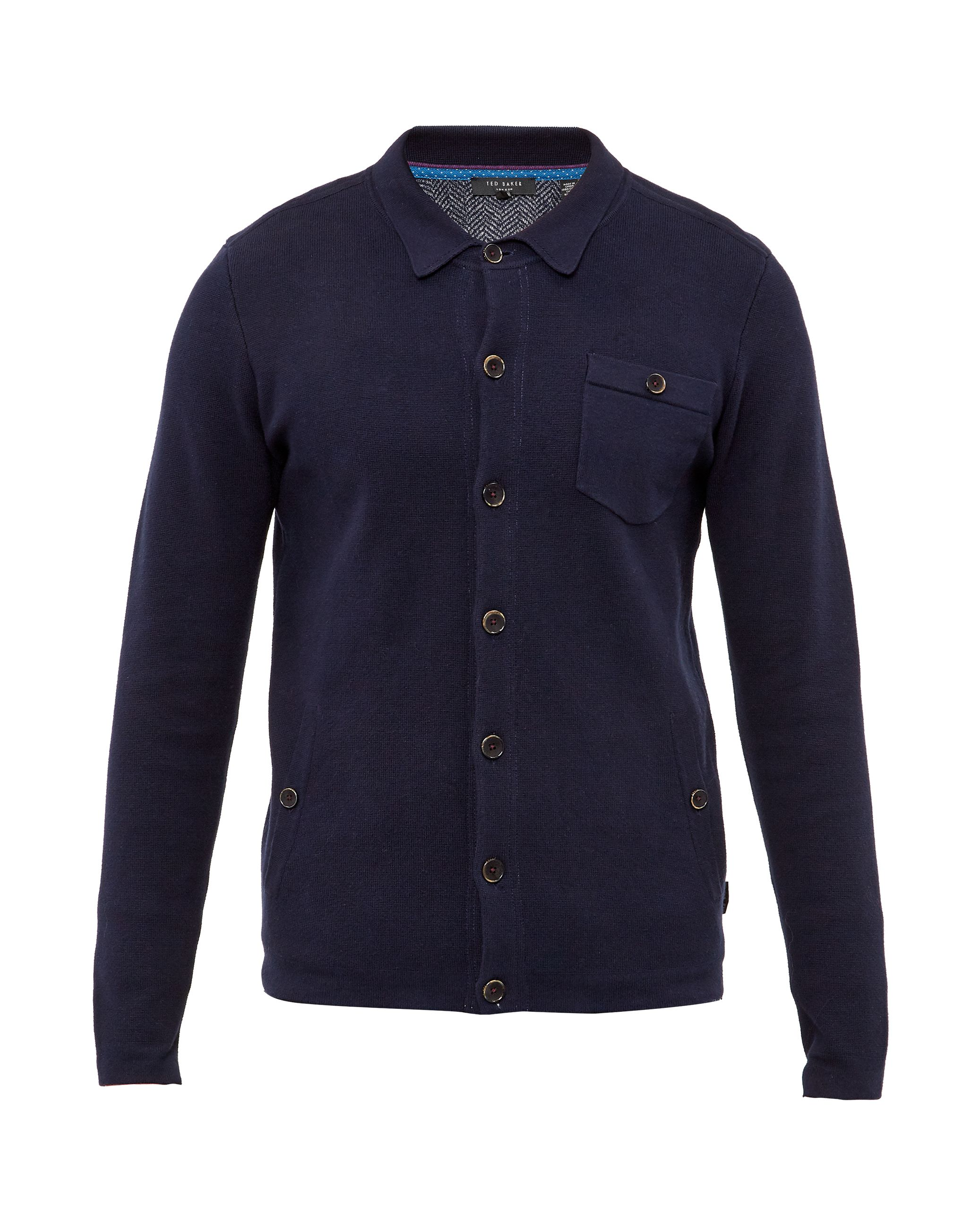 Mens Ted Baker Jackso Collared cardigan Navy