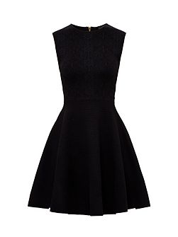 Ishia Knitted jacquard skater dress
