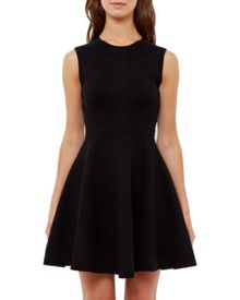 Ted Baker Ishia Knitted jacquard skater dress