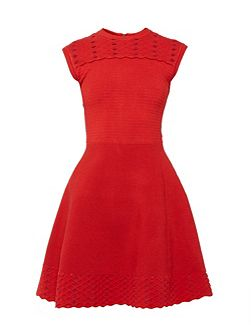 Zaralie Jacquard panel skater dress