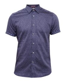 Ted Baker Indee Geo print cotton shirt