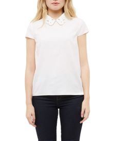 Ted Baker Athilia Embroidered collared top