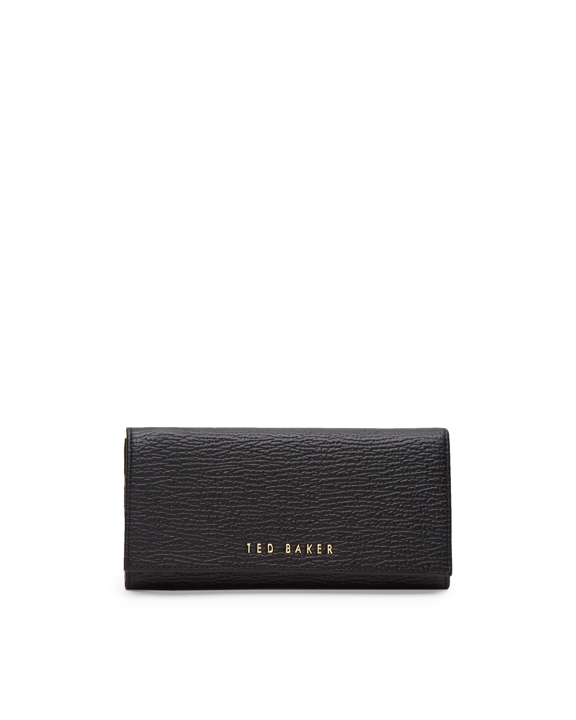 Ted Baker Raelee Textured leather purse Black