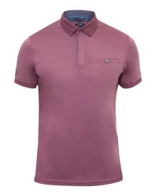 Ted Baker Charmen Flat Knit Collar Cotton Polo Shirt