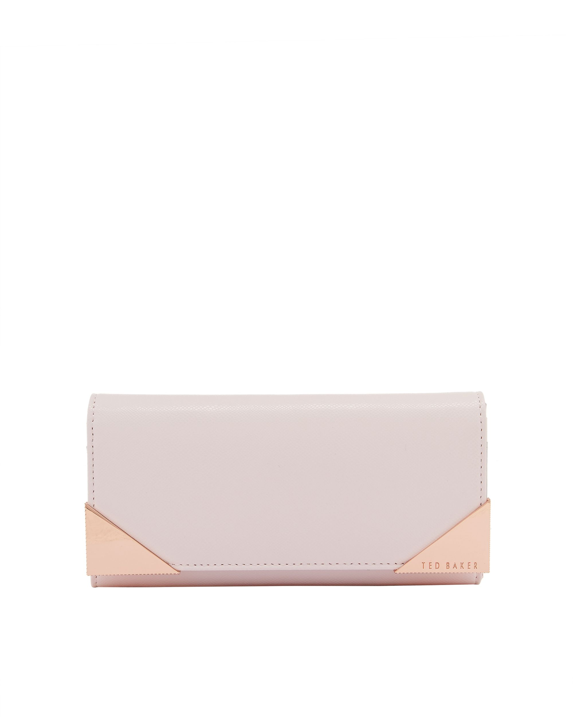 Ted Baker Knox Metal corner leather matinee purse Pastel Pink