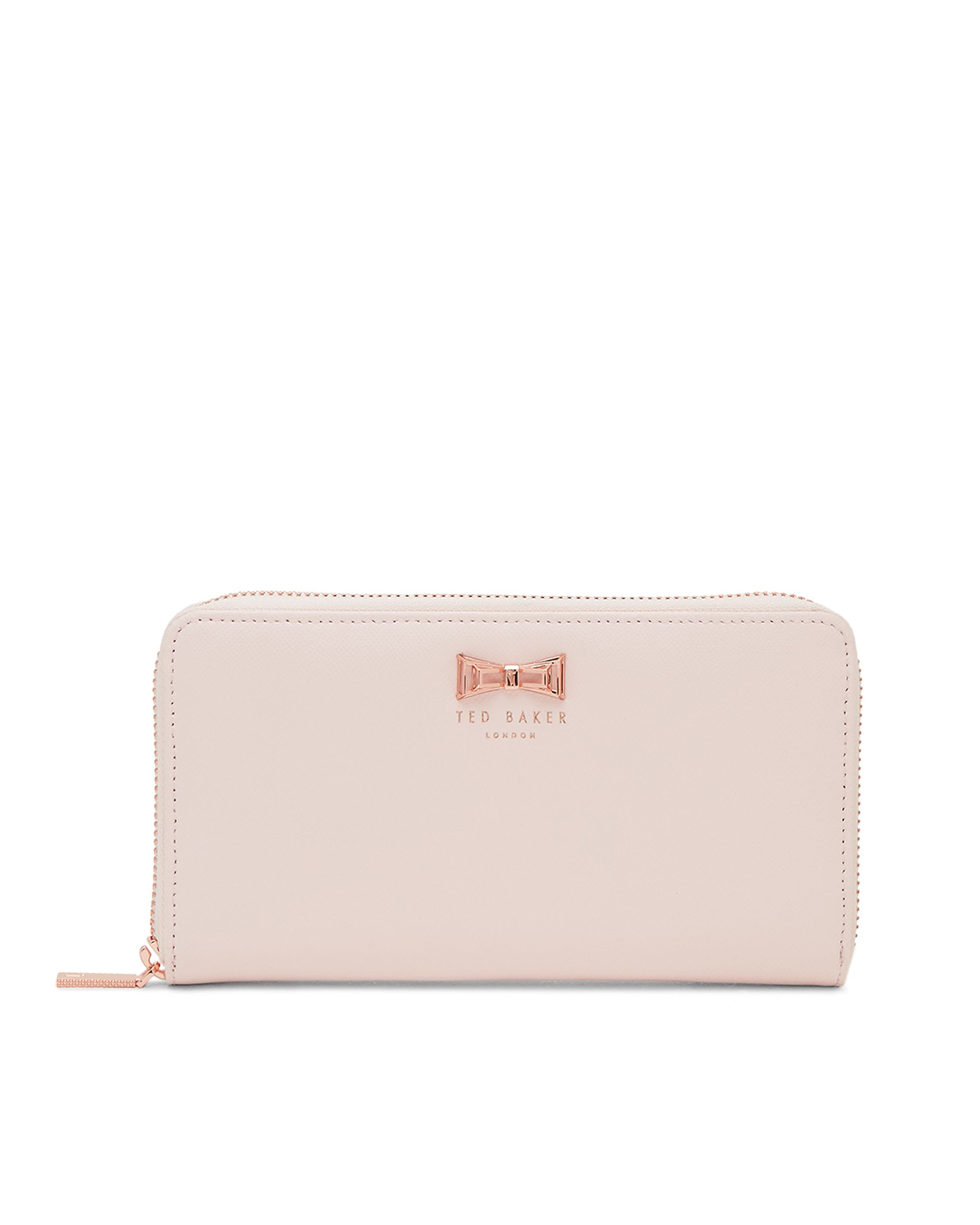Ted Baker Wallace Colour Block Leather Matinee Purse Pastel Pink