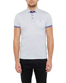 Ted Baker Callie Geo Print Cotton Polo Shirt