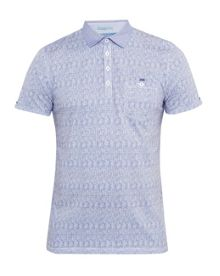 Ted Baker Fornia Woven Cotton Polo Shirt