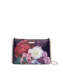 Ted Baker Narla Blushing Bouquet leather cross body bag
