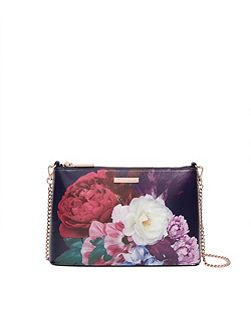Narla Blushing Bouquet leather cross body bag