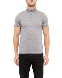Ted Baker Talford Geo Print Polo Shirt