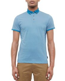 Ted Baker Fliyte Geo Print Cotton Polo Shirt