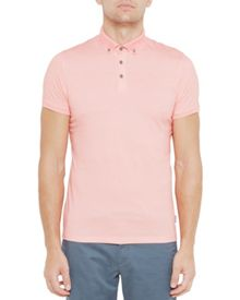 Ted Baker Fliyte Rectangle Geo Print Cotton Polo Shirt